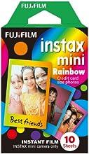 Fujifilm - Instax Mini, pellicola motivo arcobaleno, confezione da 10 pezzi