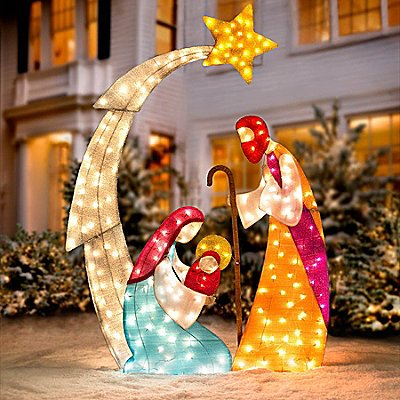 Outdoor nativity sets for Baby jesus lawn decoration