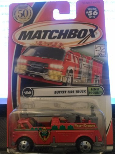 Matchbox Bucket Fire Truck Rescue Rookies 56/75 50th years 2002