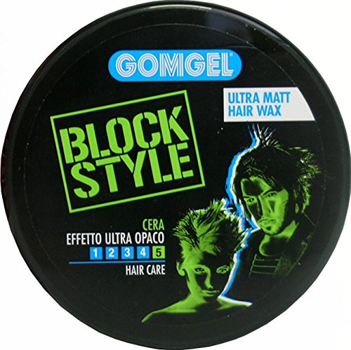 GOMGEL Cera X Capelli Block Style Effetto Opaco Vaso 100 Ml