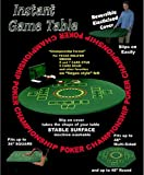 "Fitted Round Elastic Edge Felt Poker Table Cover Blackjack Texas Holdem Fits 36"" to 48"" Also Fits 36"" Square"