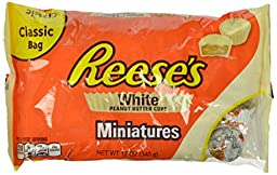 REESE\'S Peanut Butter Cup Miniatures (White Chocolate, 12-Ounce Bags, Pack of 4)