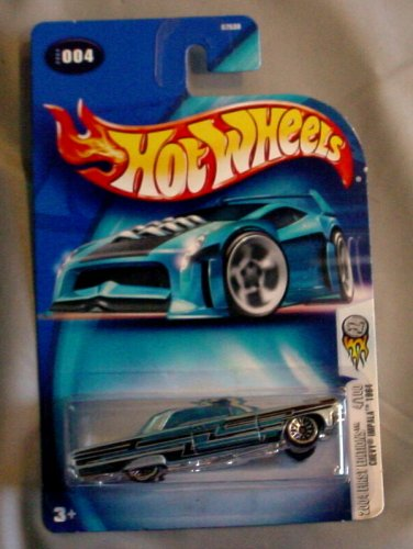 Hot Wheels 2004 First Editions Chevy Imapala 1984 BLUE 4/100 #4 #004 - 1