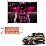 #7: Vheelocityin 9 LED Custom Cuttable Car Pink Light for Interior/ Exterior For Maruti Suzuki Wagon R 1.0 New