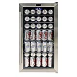 Whynter BR-130SB Beverage Refrigerator with Internal Fan, Stainless Steel
