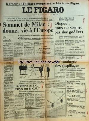 figaro-le-no-12697-du-28-07-1985-le-sommet-de-milan-donner-vie-a-leurope-f-mitterrand-et-le-projet-f