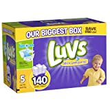 Luvs With Ultra Leakguards Size 5 Diapers 140 Count