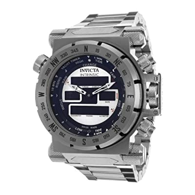 Invicta Men's 13079 Coalition Forces Analog-Digital Swiss-Quartz Silver Watch