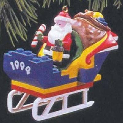Santa's Lego Sleigh 1994 Hallmark Ornament QX5453