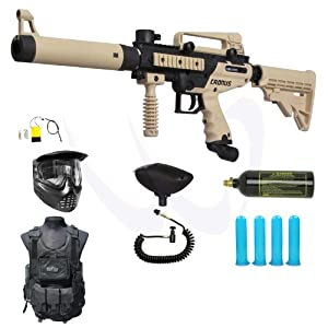 Buy Tippmann Cronus Paintball Marker Gun -Tactical Edition- Tan MEGA Combo by Tippmann