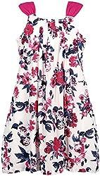 Euphoria Girls' Dress (SKU287F, Multi-Coloured, 7-8 Years)