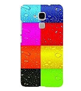 PrintVisa Corporate Print & Pattern Rain Colorful 3D Hard Polycarbonate Designer Back Case Cover for HONOR 5C