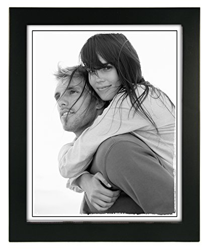 Malden International Designs Linear Classic Wood Picture Frame, Holds 8x10 Picture, Black (8x10 Black Picture Frame compare prices)