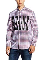 Love Moschino Camisa Hombre (Cielo / Rojo)