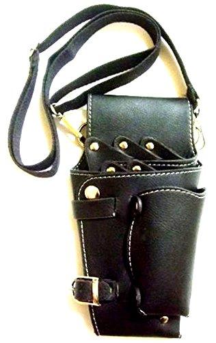グッドライフEXPRESS シザーケース バック 5丁 ブラック 美容師プロ専用 トリマー カラビナセット
