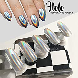 New 1g/Box Rainbow Shinning Mirror Nail Glitter Powder Perfect Holographic Nails Dust Laser Holo Nails Pigment New 2016