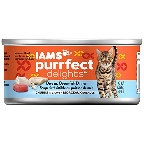Iams Purrfect Delights Dive In, Oceanfish Dinner Chunks In Gravy