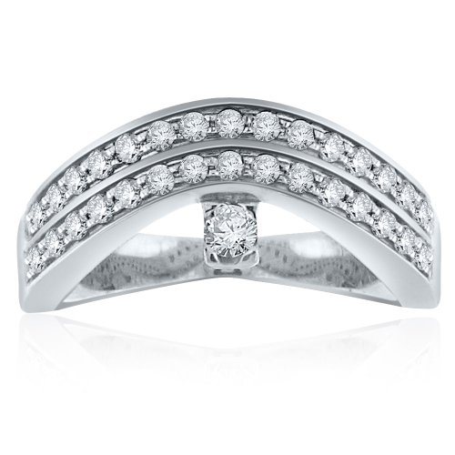 Sterling Silver Simulated Diamond Ring-0.50ct