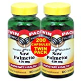 Spring Valley - Saw Palmetto 450 mg, Prosta Blend, 200 Capsules, Twin Pack