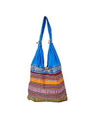 Womaniya Canvas Blue Handbag For Women(Size-32 Cm X 32 Cm X 10 Cm) - B00SJ1K3P4