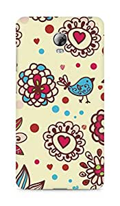 Amez designer printed 3d premium high quality back case cover for Lenovo Vibe P1 (Texture birds hearts balls surface)