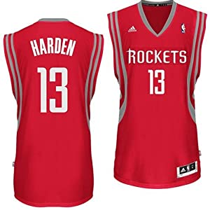 Houston Rockets Adidas NBA James Harden #13 Swingman Jersey (Red) XL by adidas