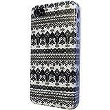 iPhone 4 4S Case cover Hard Gloss H�lle /Designer Stil Classic Aztec Tribal Tribe/-Ref 3