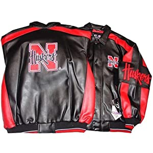 Nebraska Cornhuskers NCAA Logo Pleather Adult Jacket by G-III Sports