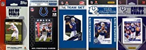 NFL Indianapolis Colts Five Different Licensed Trading Card Team Sets by C&I Collectables
