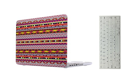 "Enthopia Premium Smooth Rubber Finish Hard Shell Case for Macbook Pro Retina 13.3"" - AZTEC DESIGN - with Keyboard Guard"