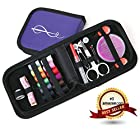 Best Sewing Kit for Home, Travel & Emergency + FREE BONUS EBOOK: The Hand Sewing Survival Guide - Compact Sewing Kit and Premium Sewing Supplies for Kids, Girls & Boys, Beginners and Adults - Best Sewing Kit for Emergency Preparedness, Travel, College Dorms, Camping - Premium Quality Case and Sewing Accessories Makes A Perfect Gift