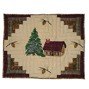 Patch Magic 27-Inch by 21-Inch Forest Log Cabin Pillow Sham