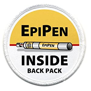 EPIPEN INSIDE Back Pack Medical Alert Symbol 3 inch Sew-on Patch from Creative Clam
