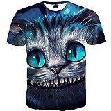 1911NC  Tshirt.  3D ストリート 原宿系 デザイン  サマー モード 動物 猫柄  ゆる  シルエット 爽やか 涼しい