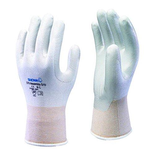 Showa - Confezione da 10 paia di guanti, con palmo rivestito in gomma nitrilica, piccoli, misura 7