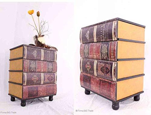 Schubladenkommode-in-Buchform-Beistellschrank-Flurschrank-Kommode-Telefontisch