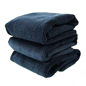 Chemical Guys (MIC_805_3) 704 Black Monster Edgeless Microfiber Towel, (Pack of 3) by Chemical Guys