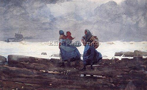 homer-winslow-fisherwives-artista-quadro-dipinto-olio-su-tela-mano-maestri-arte-40x60cm-qualita-muse