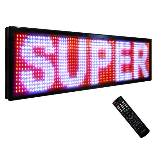 """Led Super Store Signs 3 Color (Rwp) 15"""" X 140"""" - Programmable Scrolling Display, Storefront Message Board - Industrial Grade Business Tools, Emc"""