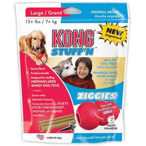 Ziggies - Dog Treat - Large - 6 Oz. - 6 Pk.