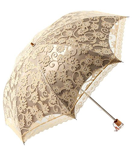 Zero Transmittance Super Prevent Sun Index 50+ Two Folding Ladies Umbrella Thicken Lace Female Parasol Sun Shade Anti-uv