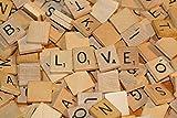 E-FAST® Wooden Scrabble Tiles Full Set Of 100, Craft,...
