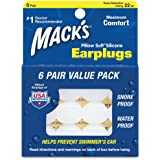 Mack's Pillow Soft Silicone Earplugs - 6 Pair (Pack of 4)