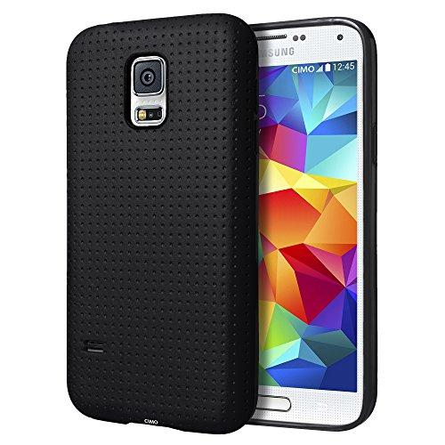 Samsung Galaxy S5 mini Case, Cimo [DOT] Premium Slim TPU Flexible Soft Case for Samsung Galaxy S 5 V mini (2014) - Black (Samsung Galaxy 5 Mini Case compare prices)