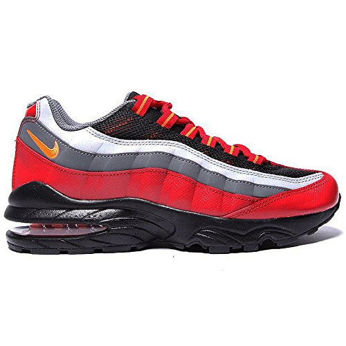 Nike Air Max 95 Big Kids Style Shoes : 307565, Black/Hyper Crimson-Dark Grey-Gym Red, 6 (Women Nike Air Max 95 compare prices)