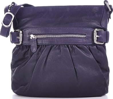 MASQUENADA, Cntmp, Leder Handtaschen, Damen Umhängetaschen, Crossover-Bags, Crossbags, Schultertaschen, Lila, 24x25x6cm (B x H x T)