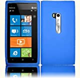 Blue Silicone Jelly Skin Case Cover for Nokia Lumia 900