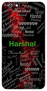 Harshal (A Lover) Name & Sign Printed All over customize & Personalized!! Protective back cover for your Smart Phone : Moto G-4-PLAY