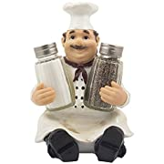 Chef Pierre Glass Salt and Pepper Shaker Set