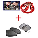 Kozdiko Combo Of 500 Amp Heavy Duty Jumper Booster Cables 7.5Feet, Car Auto Window Side Chipkoo Sunshade Curtains...